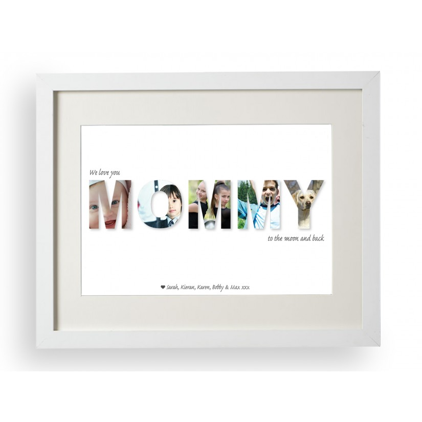 Personalised We Love You Mommy To The Moon And Back Photo Print