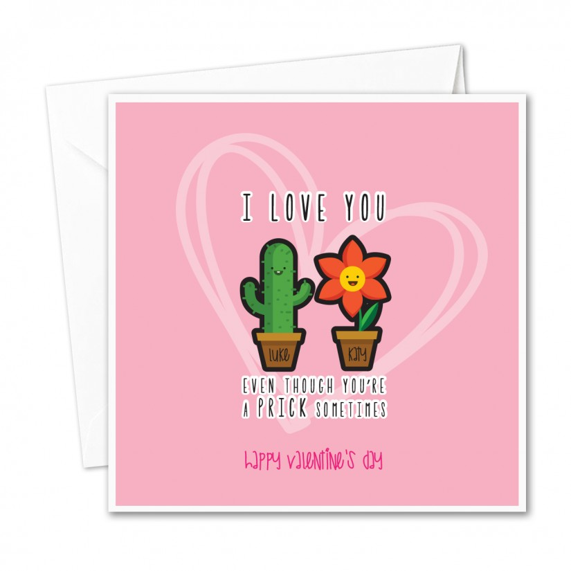 Adult valentine greeting card pity, that