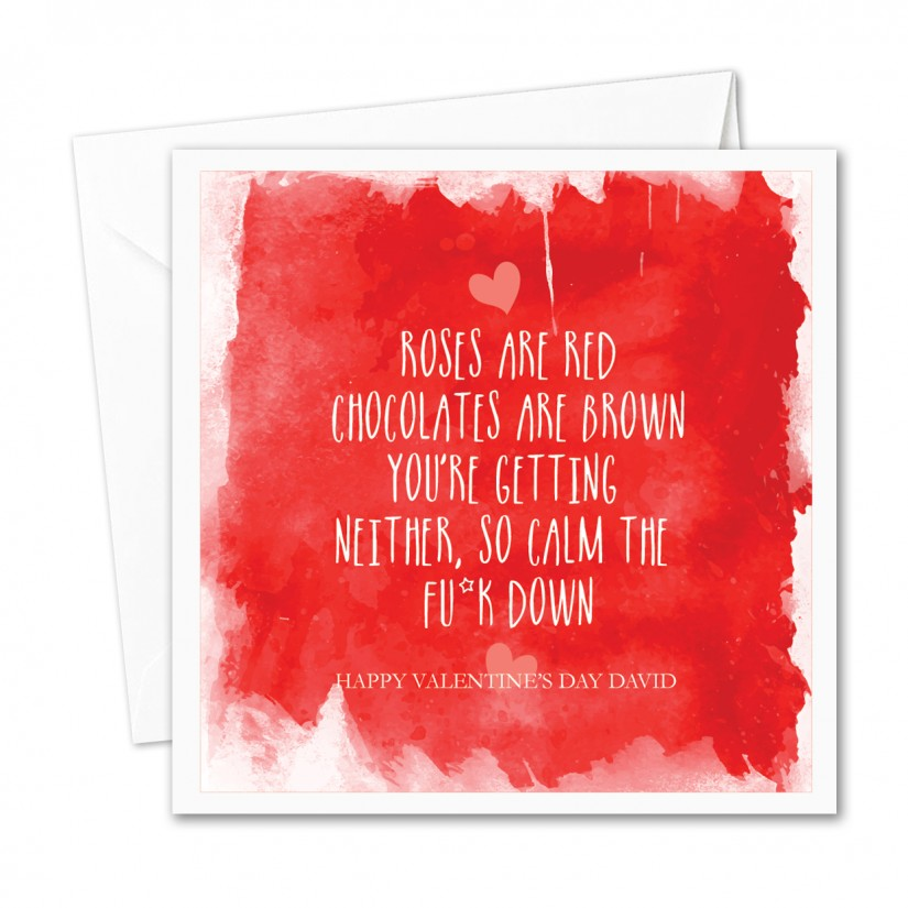 Not absolutely adult valentine greeting card
