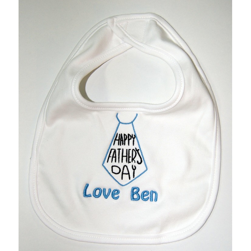 Personalised embroidered baby bibs